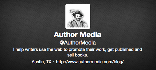 Author Media Twitter Bio Example